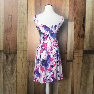 Dress Barn Dresses - Floral - career fit-and-flare dress sz 2 P